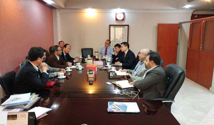 برگزاری جلسه با هیئت چینی از منطقه آزاد شانگهای چین